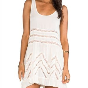 Free People cream voile trapeze dress XS